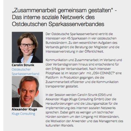 ICS User Group Konferenz: Sparkassen-Pilotprojekt im Vortragsprogramm