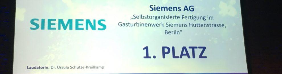 Deutscher Personalwirtschaftspreis: Siemens erhält Auszeichnung in der Kategorie Leadership