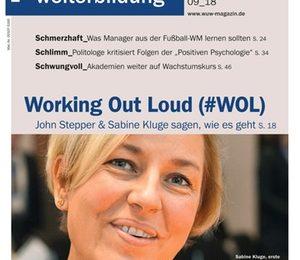 Haufe Magazin Wirtschaft + Weiterbildung: Titel Working Out Loud