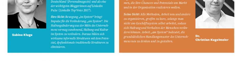 """""""New Work"""" – oder gleich """"New System"""" – Sabine Kluge und Dr. Christian Kugelmeier im Dialog"""