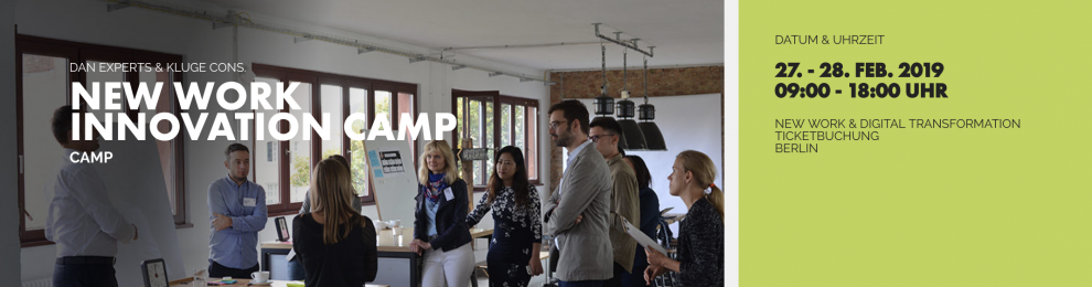 Mensch, Raum, Technologie – das New Work Innovation Camp geht an den Start!